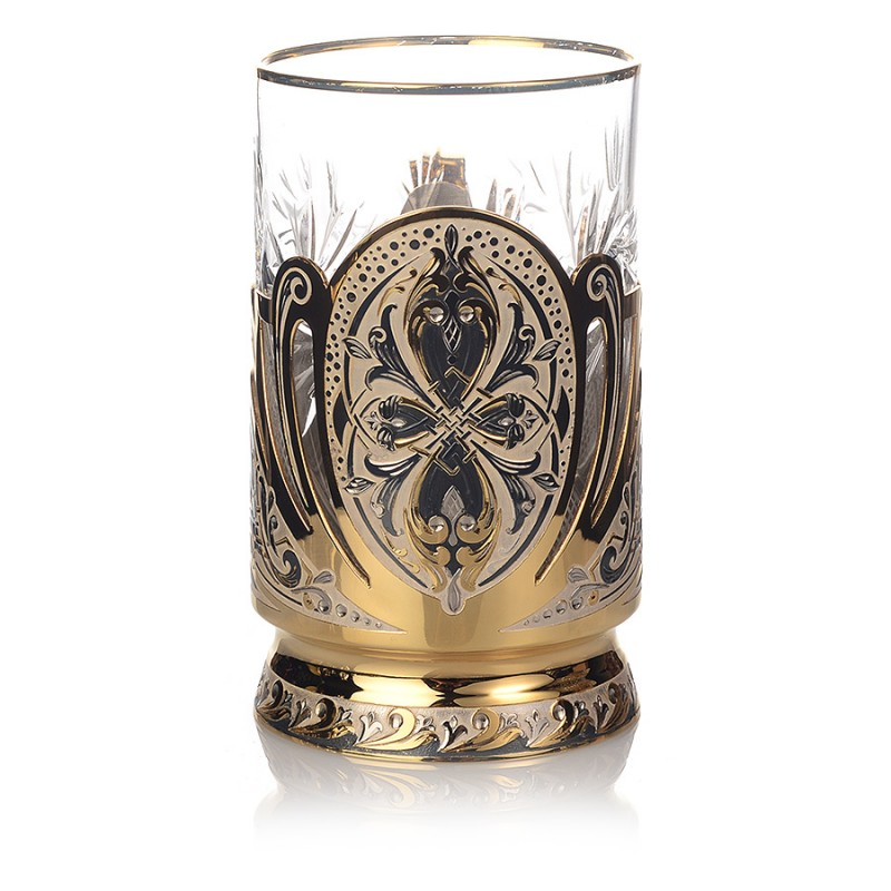 4 Подстаканник, стакан, ложка (чернение)