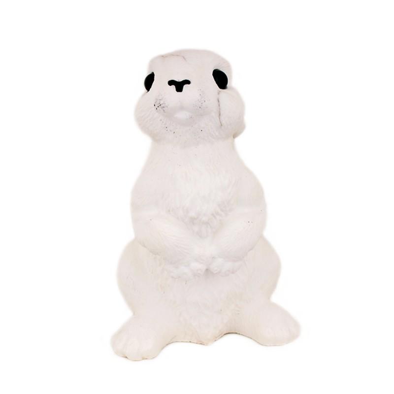 """Скульптура из камня """"Заяц"""" белый"""