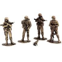 Набор солдатиков Вежливая армия(4шт, 1:35,бронза) набор солдатиков 6шт советская морская пехота 1941 1943 гг 1 35 бронза