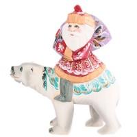 скульптура Дед мороз на белом медведе скульптура дед мороз