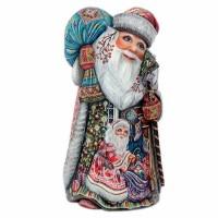 Скульптура из дерева Дед мороз авт.Аксенова украшение новогоднее оконное magic time дед мороз с самоваром двустороннее 30 х 32 см