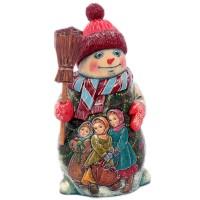 Скульптура из дерева Снеговик скульптура снеговик клоун