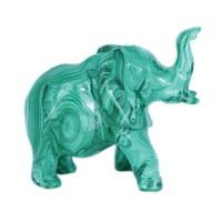 Скульптура Слон (малахит) 2 набор черный кофе малахит