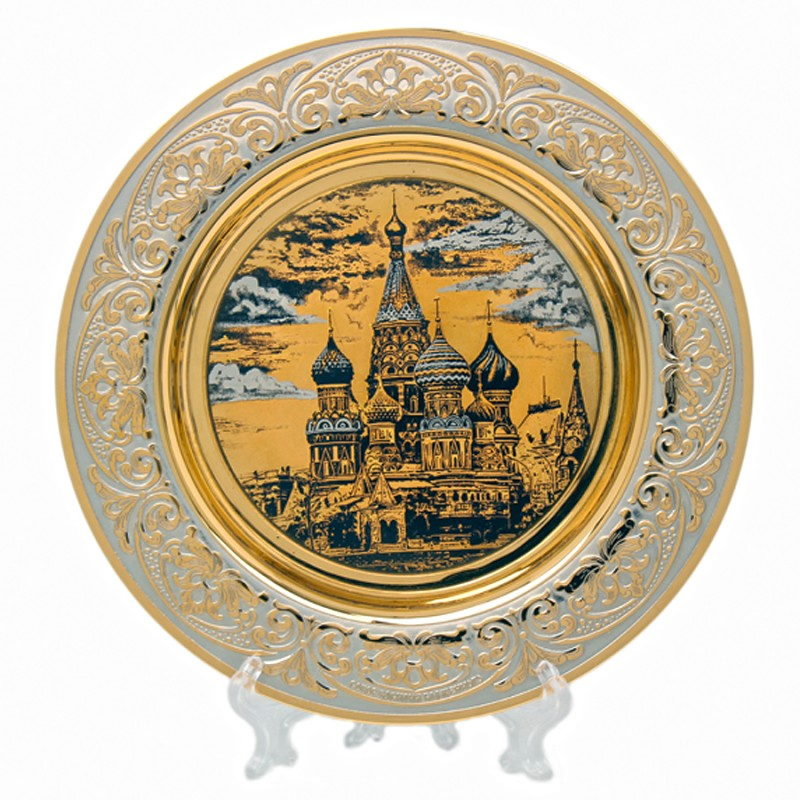 Тарель сувенирная Виды Москвы сувениры aroma garden тарель интерьерная лебеди