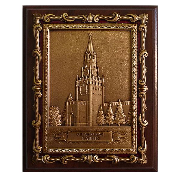 13-126 Плакетка Спасская башня в подарочной упаковке 3d пазл для раскрашивания спасская башня 03084