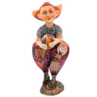 Скульптура Клоун с мячиком скульптура снеговик клоун