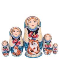 Россия Матрешка Снегурочка 5 мест 1 россия ёлочная игрушка снегурочка морозные узоры
