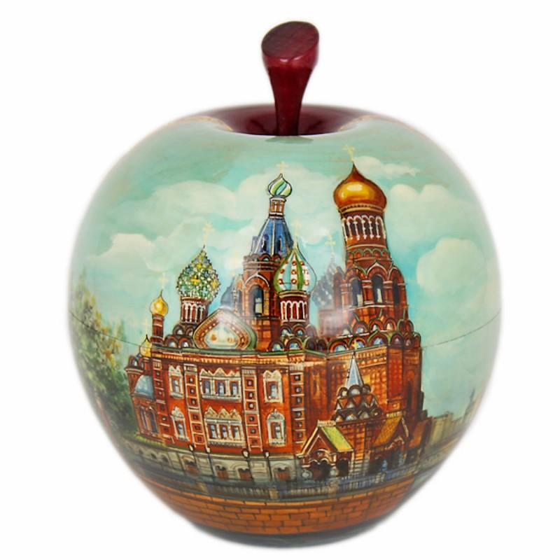 Шкатулка-яблоко Санкт-Петербург шкатулка ювелирная санкт петербург