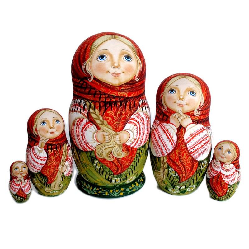 Россия Матрешка 5 мест