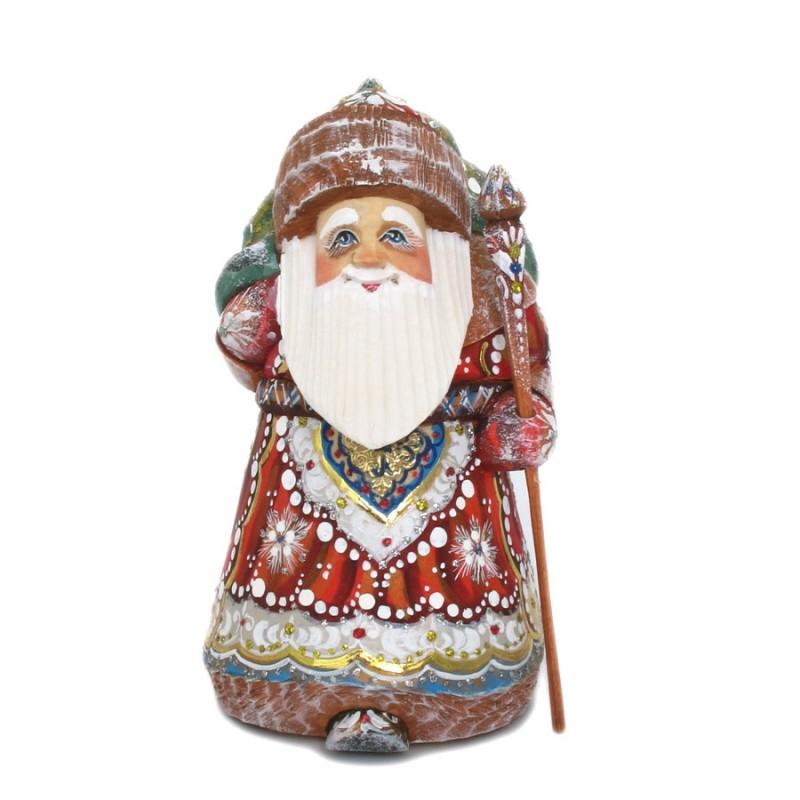 Скульптура из дерева Дед Мороз (110)
