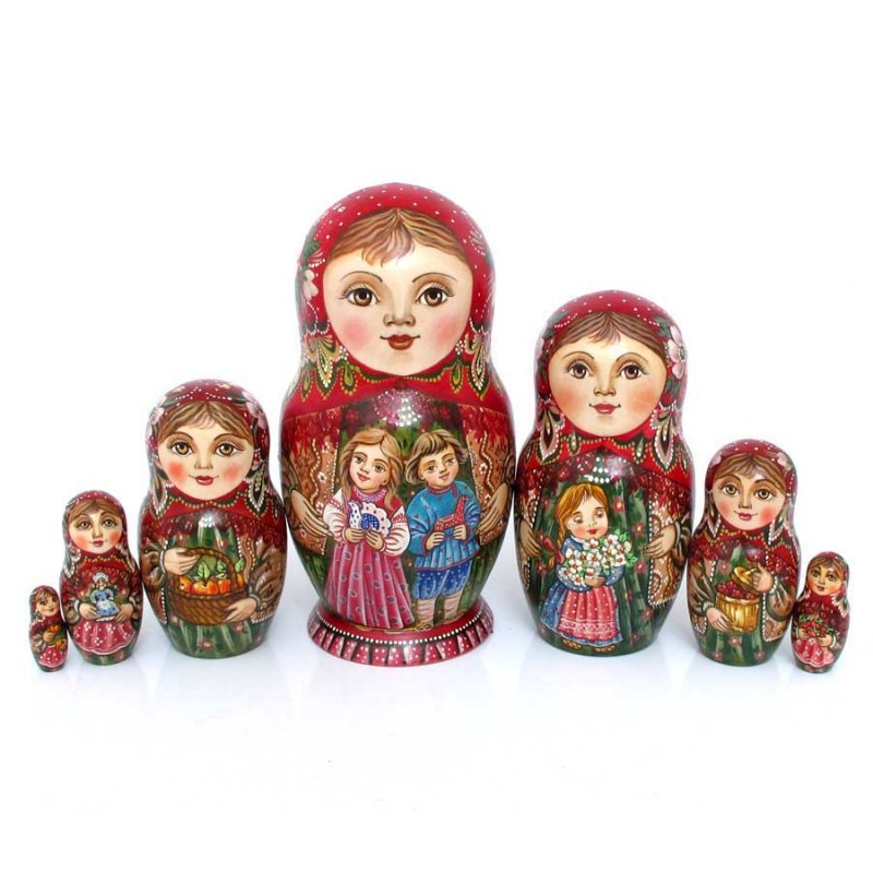 Россия Матрешка 7 мест Дети