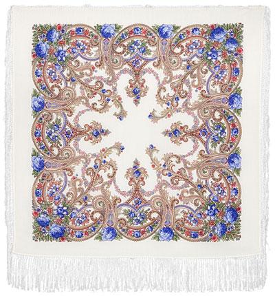 Павловопосадский платок шерстяной с шелковой бахромой Милый друг, 89x89 см неизвестный друг