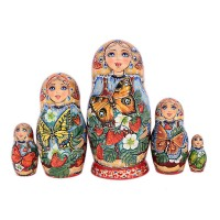 Россия Матрешка Бабочка 5 мест