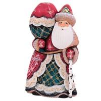 скульптура из дерева Дед мороз мешок 3 цвета украшение новогоднее оконное magic time дед мороз с самоваром двустороннее 30 х 32 см