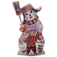 Скульптура из дерева Снеговик_1 скульптура снеговик клоун