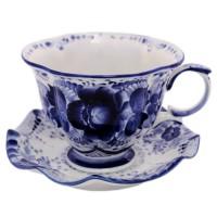 чайная пара Будничная гжель чайная пара asa selection a table 1912 013
