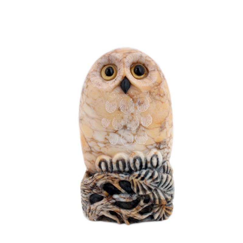 """Скульптура из камня """"Совушка"""" 12-13см"""