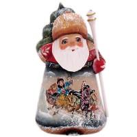 """скульптура """"Дед мороз""""(бел.посох и рис.тройка)"""