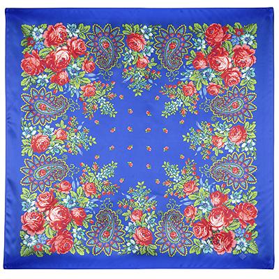 Павловопосадский платок шелковый (атлас) Южная ночь, 89x89 см ароматизатор 3d южная ночь