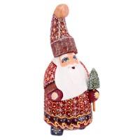 Скульптура из дерева Дед мороз 1200 украшение новогоднее оконное magic time дед мороз с самоваром двустороннее 30 х 32 см