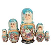 Россия Матрешка 5 мест Сюжет(1315208)-4 россия я0280 4