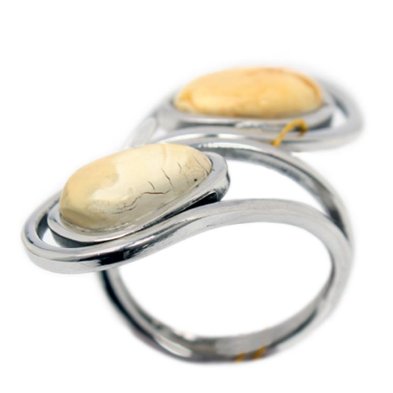 Кольцо янтарное (Ag925) (7,05) кольцо yueyin r161 925