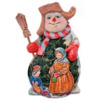 Скульптура из дерева Снеговик_2 скульптура снеговик клоун