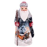 """скульптура из дерева """"Дед мороз"""" лихая тойка"""