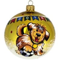 Россия Ёлочная игрушка шар Щенок-футболист россия ёлочная игрушка шар мяч шоколадный