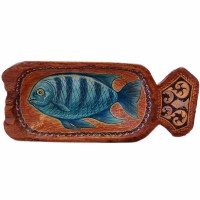 миска Рыба голубая с одной ручкой морепродукты рыба