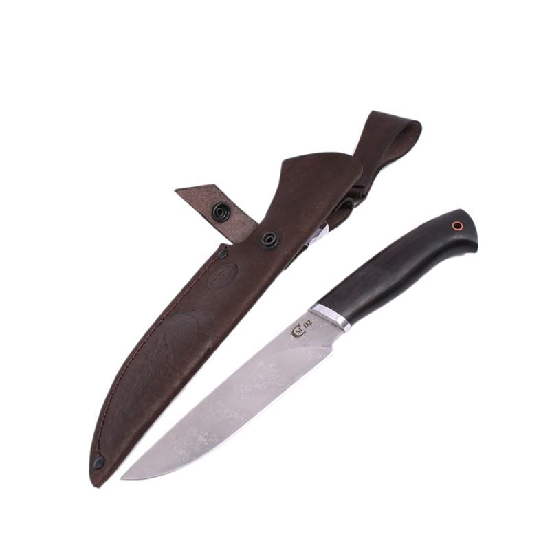 """Нож """"Близнец"""" ст.D2,литье,черное дерево от Наследие"""