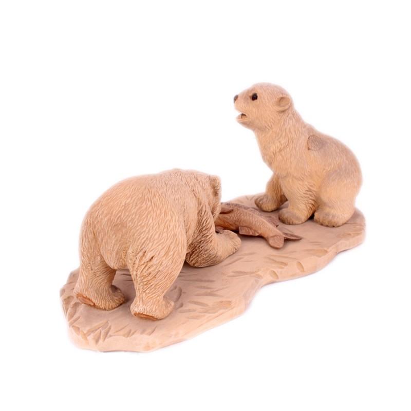 """Скульптура из дерева """"Медведи"""" от Наследие"""