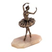 Статуэтка Балерина на натуральном камне(Бронза) статуэтка балерина 673591