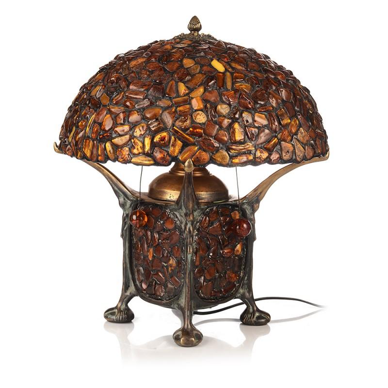 Лампа янтарь-41657