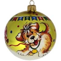 Россия Ёлочная игрушка шар Щенок с шариком россия ёлочная игрушка шар мяч шоколадный