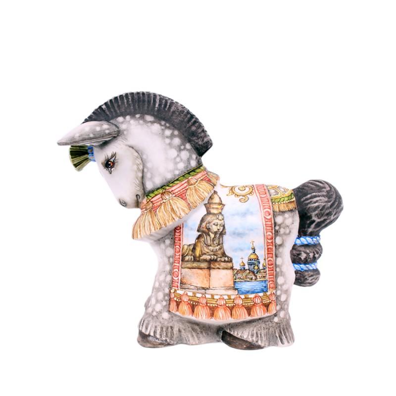 Фигурка Лошадка Санкт-Петербург 13см декоративная фигурка лошадка с повозкой 31802
