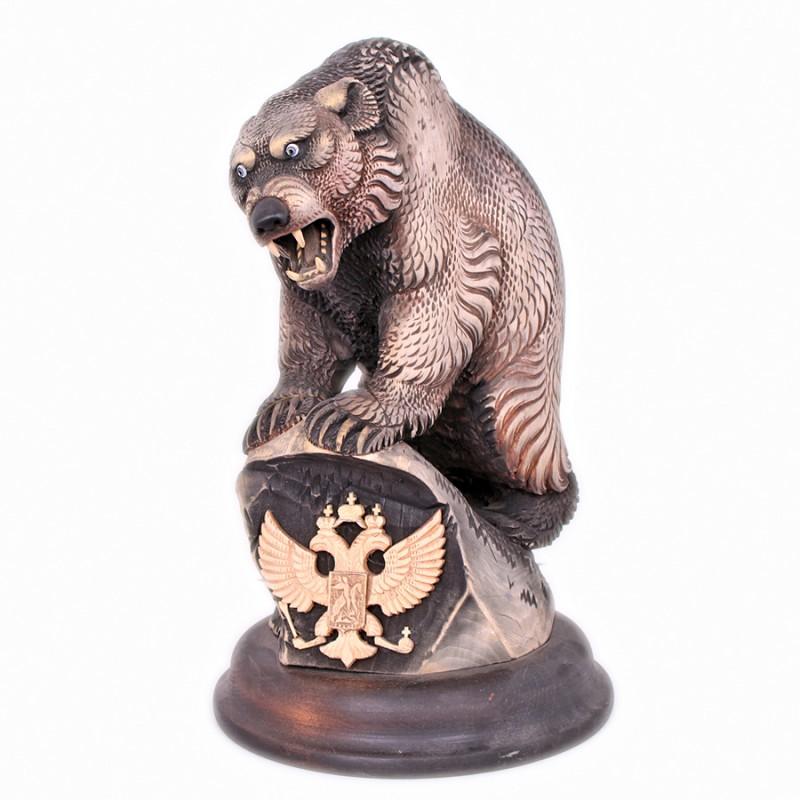 Россия Композиция Медведь на камне (Герб РФ)