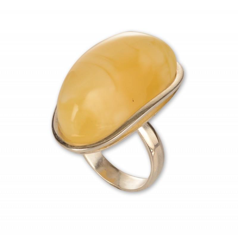 Кольцо 925 (янтарь, серебро) (4,78)