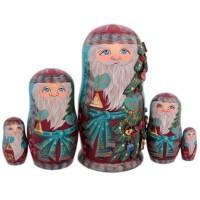 матрешка Дед мороз 5 мест 3520 украшение новогоднее оконное magic time дед мороз с самоваром двустороннее 30 х 32 см