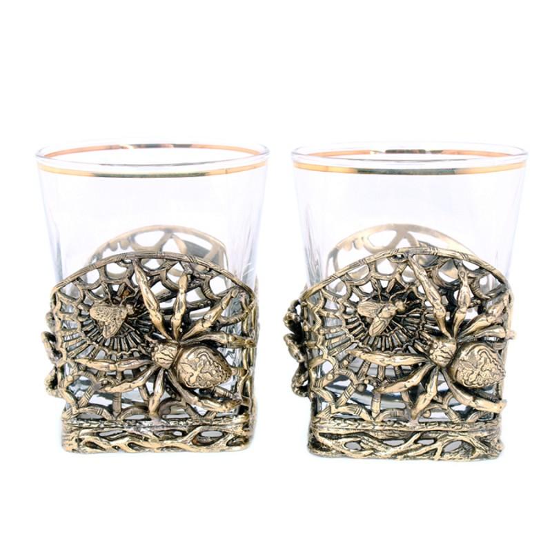 набор бокалов bistro д шампанского 2шт 275мл стекло Набор бокалов д/виски Паук 2шт.
