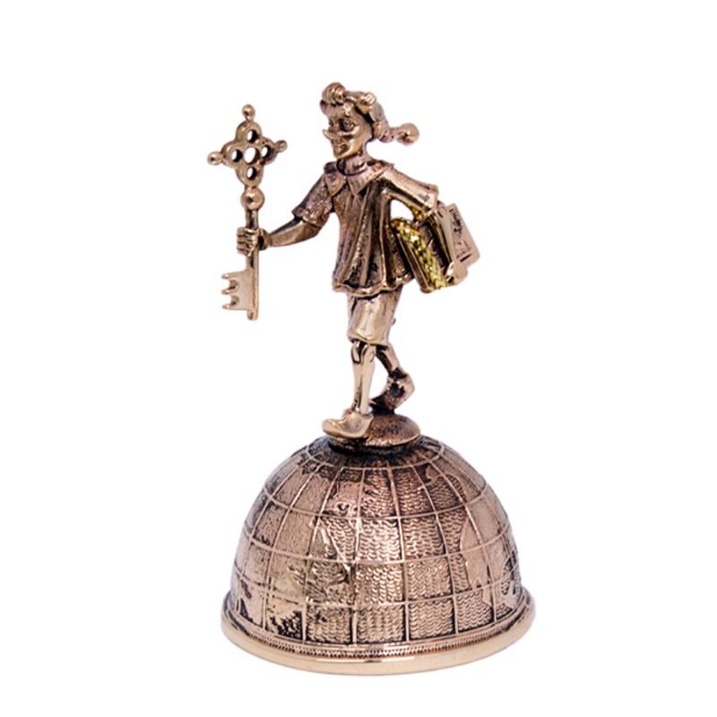Колокольчик бронзовый Буратино