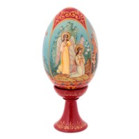 Яйцо на подставке Воскресение Христово (дерево) тростникова е воскресение христово