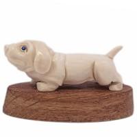 скульптура Собака бивень мамонта