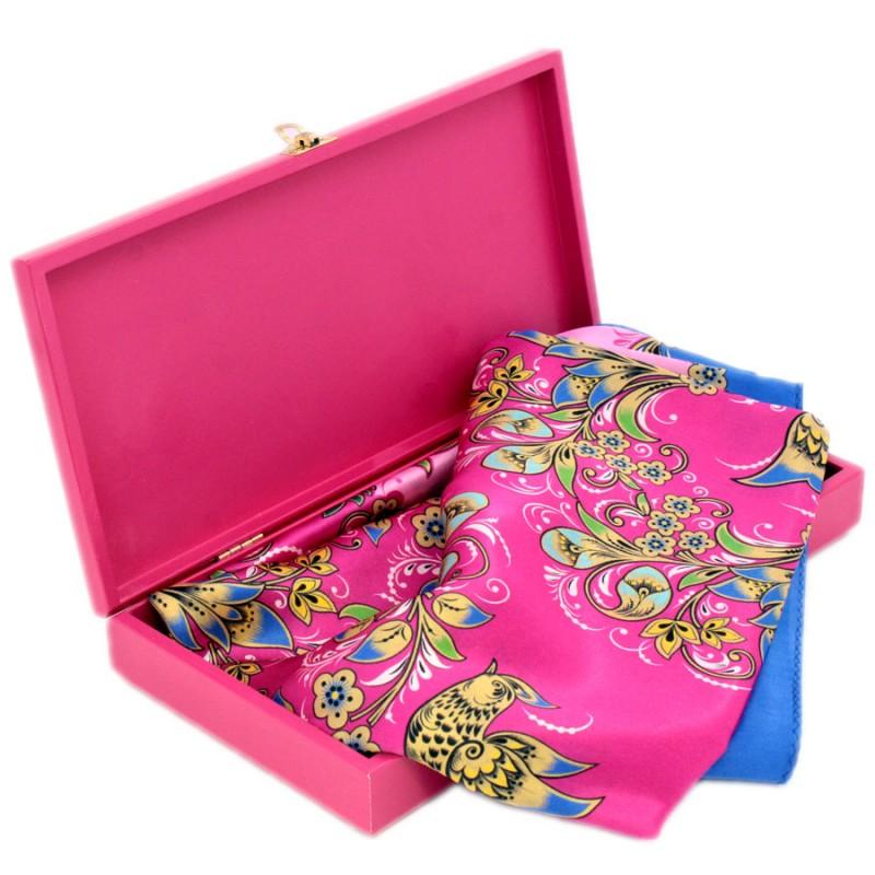 Подарочный набор Мимоза Павловопосадский платок в шкатулке платки venuse 73029 набор подарочный платок бусы