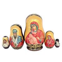 Россия Матрешка Владимирская богоматерь 5 мест
