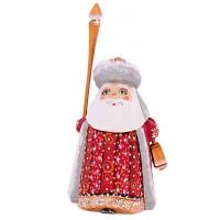 "скульптура из дерева ""Дед мороз с фонариком"" 7439"