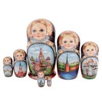 Матрешка Москва 7 мест матрешка 7 мест грибы миронова 25см