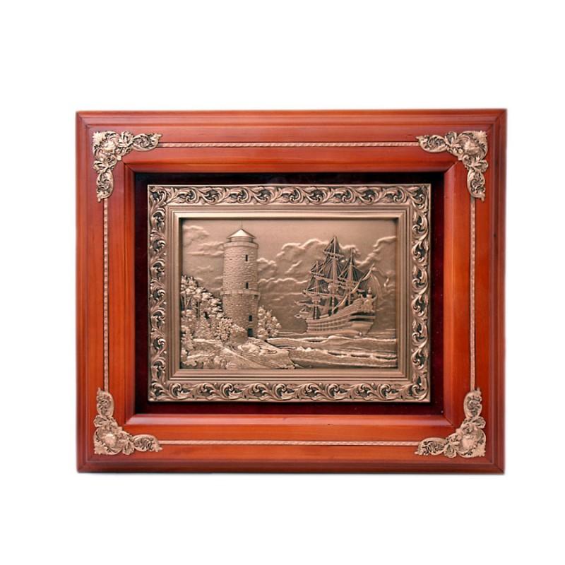 """14-194 Деревянное панно """"Маяк"""" (коричневый багет) от Наследие"""