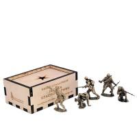 Набор солдатиков Пехота Красной Армии(5шт, 1:35,бронза) набор солдатиков 6шт советская морская пехота 1941 1943 гг 1 35 бронза