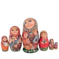 Россия Матрешка Девочка 6 мест 2